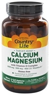 Image of Country Life - Target-Mins Calcium-Magnesium with Vitamin D Complex - 120 Vegetarian Capsules