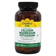 Cible-minutes calcium-magnésium potassium - 180 Tablets by Country Life