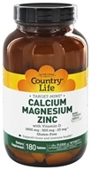 Country Life - Target-Mins Calcium Magnesium Zinc - 180 Tablets