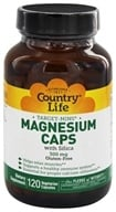 Country Life - Target-Mins Magnesium Caps with Silica 300 mg. - 120 Vegetarian Capsules by Country Life