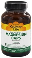 Country Life - Target-Mins Magnesium Caps with Silica 300 mg. - 120 Vegetarian Capsules - $10.79
