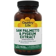 Country Life - Saw Palmetto & Pygeum Caps - 90 Vegetarian Capsules Formerly Biochem by Country Life