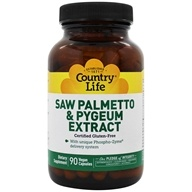 Country Life - Saw Palmetto & Pygeum Caps - 90 Vegetarian Capsules Formerly Biochem, from category: Nutritional Supplements
