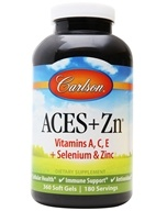 Carlson Labs - ACES + Zn Vitamins A, C, E Plus Selenium and Zinc - 360 Softgels (088395044243)