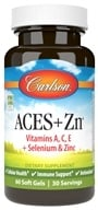 Carlson Labs - ACES + Zn Vitamins A, C, E Plus Selenium and Zinc - 60 Softgels, from category: Vitamins & Minerals