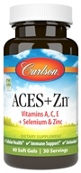 Carlson Labs - ACES + Zn Vitamins A, C, E Plus Selenium and Zinc - 60 Softgels (088395044205)