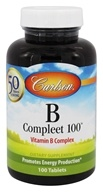 Carlson Labs - B-Compleet-100 Vitamin B Complex - 100 Tablets, from category: Vitamins & Minerals