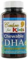 Carlson Labs - Kids DHA Chewable Orange Flavor - 60 Softgels, from category: Nutritional Supplements