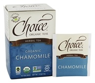 Choice Organic Teas - Chamomile Herb Tea Caffeine Free - 16 Tea Bags by Choice Organic Teas
