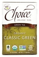 Choice Organic Teas - Classic Blend Green Tea - 16 Tea Bags (047445919139)