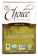 Choice Organic Teas - Classic Blend Green Tea - 16 Tea Bags, from category: Teas
