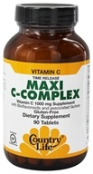 Country Life - Maxi C-Complex Vitamin C Time Release 1000 mg. - 90 Vegetarian Tablets - $10.79