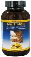 Country Life - Maxi Pre-Natal 1,000 mcg of Folic Acid - 180 Vegetarian Capsules