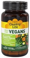 Country Life - Maxi Sorb Vegetarian Support Vegan Multivitamin & Mineral - 120 Vegetarian Capsules (015794081074)