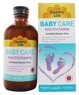 Image of Country Life - Maxi Baby Care Liquid multivitamin Natural Raspberry Flavor - 6 oz.