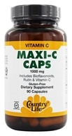 Country Life - Maxi C-Complex Vitamin C Time Release 1000 mg. - 90 Vegetarian Capsules by Country Life