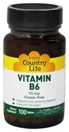 Country Life - Vitamin B-6 50 mg. - 100 Tablets (015794061014)