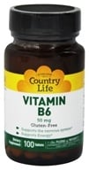 Country Life - Vitamin B-6 50 mg. - 100 Tablets, from category: Vitamins & Minerals