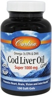 Carlson Labs - Super Cod Liver Oil 1000 mg. - 100 Softgels (088395013010)