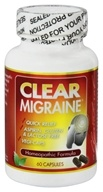 Clear Migraine Homeopathic/Herbal Formula with Corydalis - 60 Capsules