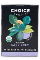 Choice Organic Teas - Earl Grey Tea - 16 Tea Bags (047445919719)