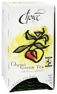 Choice Organic Teas - Gourmet Green Tea with Essence of Peach - 20 Tea Bags - $4.48