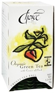 Choice Organic Teas - Gourmet Green Tea with Essence of Peach - 20 Tea Bags by Choice Organic Teas