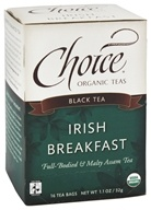Choice Organic Teas - Black Tea Irish Breakfast - 16 Tea Bags (047445919924)