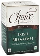 Choice Organic Teas - Black Tea Irish Breakfast - 16 Tea Bags by Choice Organic Teas