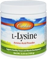 Carlson Labs - L-Lysine Amino Acid Powder - 100 Grams - $6.99