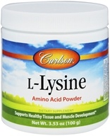 Carlson Labs - L-Lysine Amino Acid Powder - 100 Grams (088395068850)