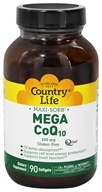 Country Life - Maxi-Sorb Mega CoQ10 Q-Gel 100 mg. - 90 Softgels - $45.59