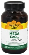 Country Life - Maxi-Sorb Mega CoQ10 Q-Gel 100 mg. - 60 Softgels
