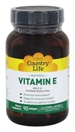 Country Life - Natural Vitamin E 400 IU - 90 Softgels - $19.79