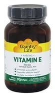 Country Life - Natural Vitamin E 400 IU - 90 Softgels by Country Life