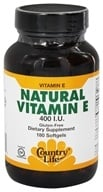Country Life - Natural Vitamin E 400 IU - 180 Softgels (015794075431)