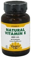 Country Life - Natural Vitamin E 400 IU - 60 Softgels (015794075417)
