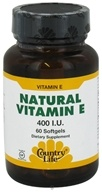 Country Life - Natural Vitamin E 400 IU - 60 Softgels by Country Life