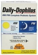 Country Life - Daily-Dophilus AM/PM Complete Probiotic System - 112 Vegetarian Capsules, from category: Nutritional Supplements
