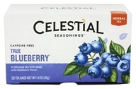 Celestial Seasonings - True Blueberry Herb Tea Caffeine Free - 20 Tea Bags (070734070754)