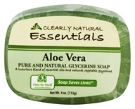 Clearly Natural - Glycerine Soap Bar Aloe Vera - 4 oz. (075573000108)