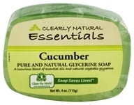 Clearly Natural - Glycerine Soap Bar Cucumber - 4 oz. (075573000160)