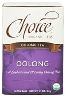 Choice Organic Teas - Oolong Tea - 16 Tea Bags - $3.29