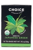 Choice Organic Teas - Premium Japanese Green Tea - 16 Tea Bags (047445919214)