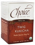 Choice Organic Teas - Twig Kukicha Tea - 16 Tea Bags Formerly Low Caffeine