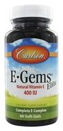 Carlson Labs - E Gems Elite Natural Vitamin E 400 IU - 60 Softgels