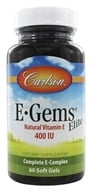 Carlson Labs - E-Gems Elite 400 IU - 60 Softgels