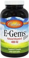 Image of Carlson Labs - E-Gems Elite 400 IU - 240 Softgels