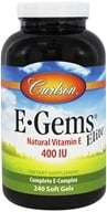 Carlson Labs - E-Gems Elite 400 IU - 240 Softgels (088395007729)