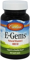 Image of Carlson Labs - E-Gems 400 IU - 90 Softgels